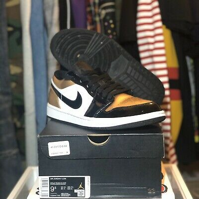 Jordan 1 Low Gold Toe Size 9 5 Pre Owned Fashion Clothing Shoes