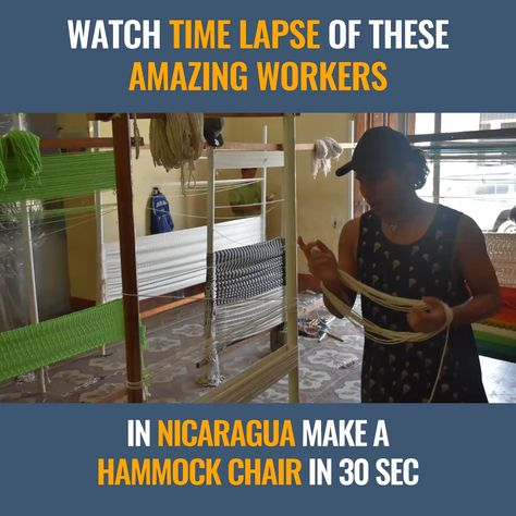 Our amazing workers making one of our macrame chairs!   The whole process takes about one day, but we compressed it to 30 seconds.