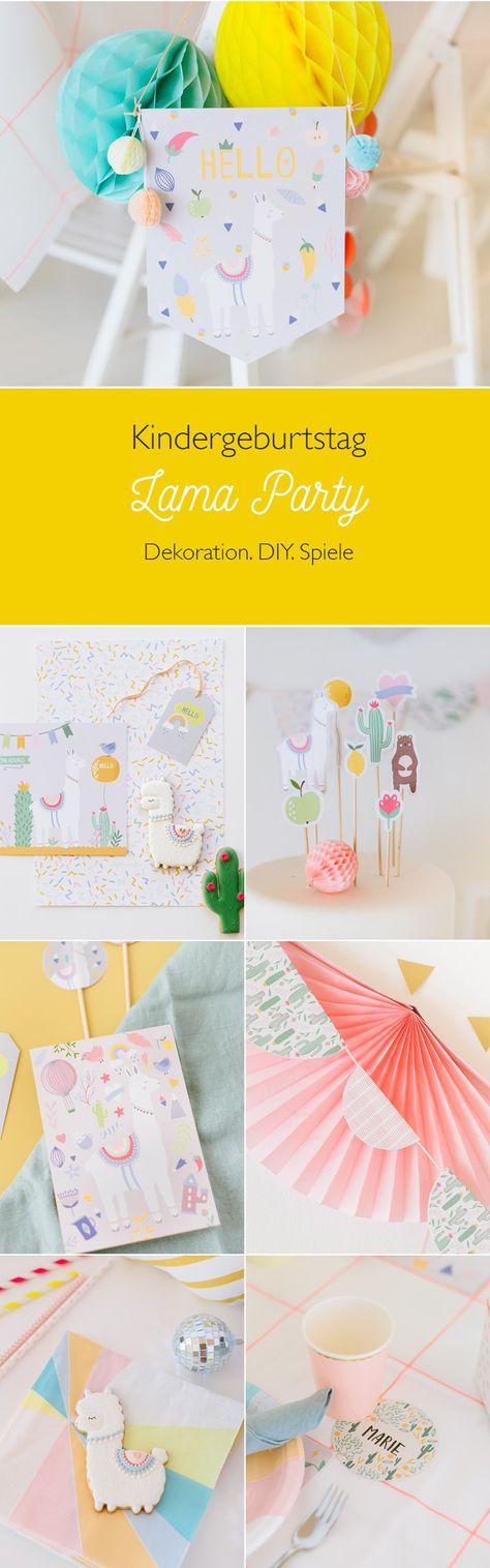 lama party dekoration für den kinder- und