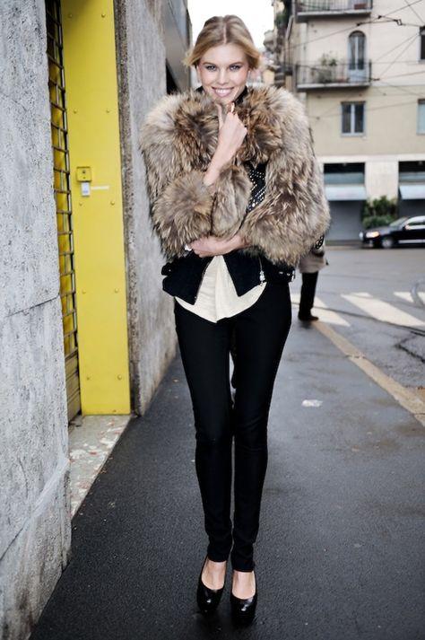 Maryna Linchuk #streetstyle #fashion #modeloffduty