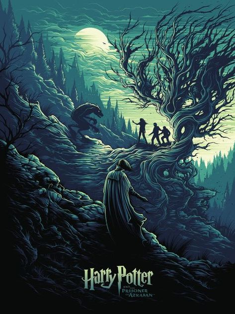 Harry Potter and the Prisoner of Azkaban by Dan Mumford - Home of the Alternative Movie Poster -AMP- Harry Potter Tumblr, Harry Potter Illustrations, Harry Potter Wallpaper