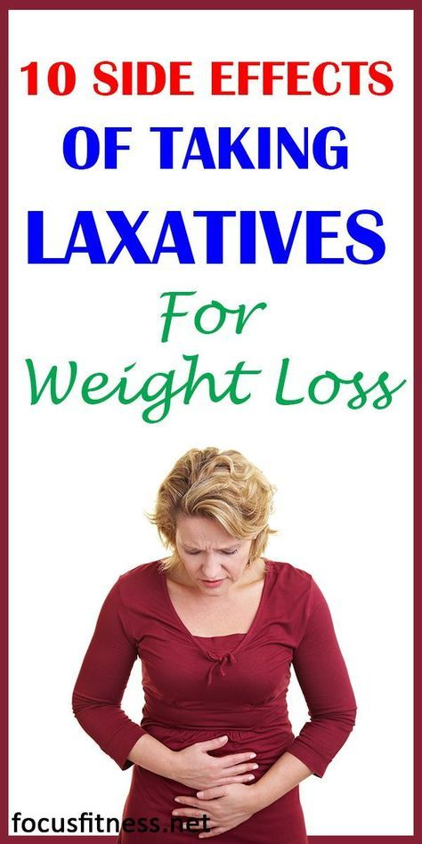 how to use laxatives to lose weight