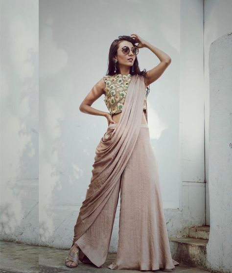 // Pallazo pants in a saree? What's your Indian wardrobe looking like for