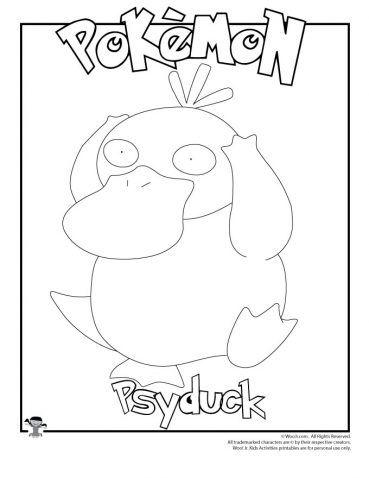 Psyduck Coloring Page Woo Jr Kids Activities Pokemon Coloring Coloring Pages Pokemon Coloring Pages