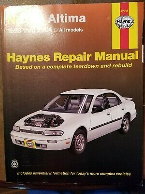 Nissan Altima 1993 2004 Haynes Repair Manual 72015 2005 Nissan Altima Repair Manuals Car Repair Service