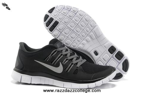 d5e9963bc96b4 New Black Grey Silver Womens Nike Free 5.0 580591-002 2013 Free Shoes