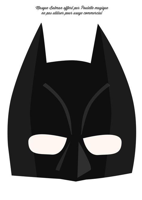La Batman's week #4 le masque à télécharger | Poulette Magique