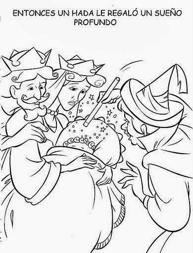 Cuentos Infantiles Dibujos De La Bella Durmiente Para Colorear Todo El Cuento Con Imagenes Secu Bella Durmiente Secuencias Temporales Secuencias De Imagenes