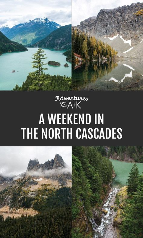 Our North Cascades National Park itinerary will give you a fun and beautiful weekend hiking, seeing scenic viewpoints, and exploring cute towns. National Park Lodges, Cascade National Park, National Park Camping, North Cascades National Park, Crater Lake National Park, Us National Parks, Olympia National Park, Trail Running, Washington Nationals Park