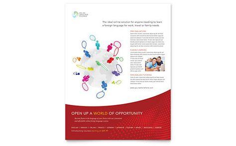 Tutoring School  Flyer Template Design Sample  Print Design
