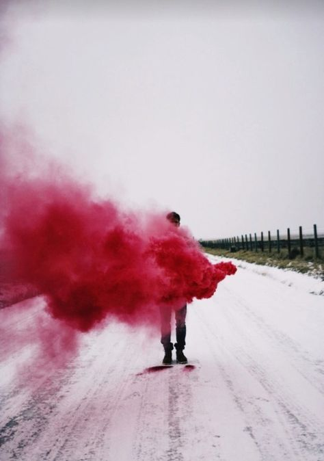 Red Smoke And Grunge Image R E D Pinterest Grunge - Attaching colourful smoke to drones has spectacular results