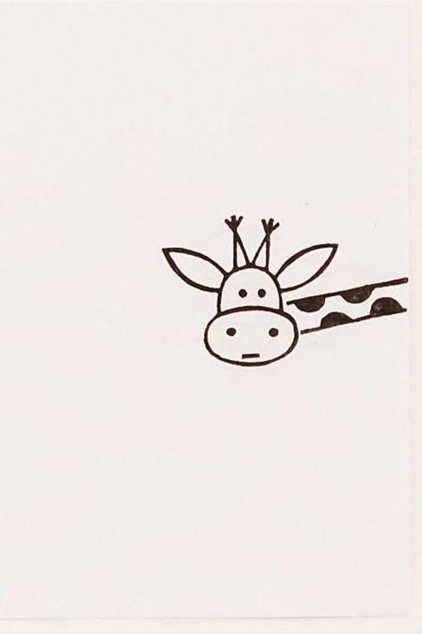Funny giraffe, cute little drawings, simple cute drawings, cute doodles drawings, easy Easy Drawings Sketches, Mini Drawings, Cool Art Drawings, Doodle Drawings, Simple Sketches, White Board Drawings, Cute Little Drawings, Easy Drawings For Kids, Simple Cute Drawings