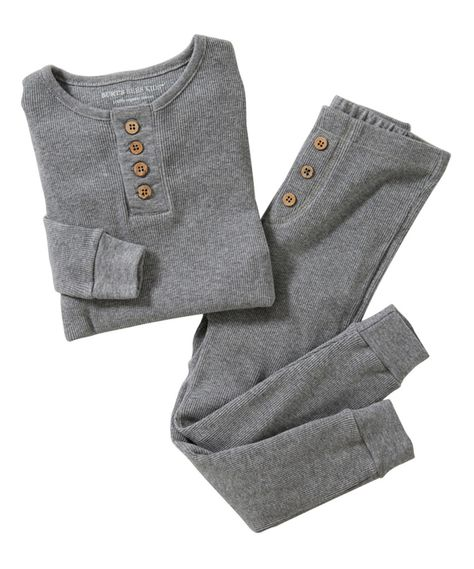 This Heather Gray Henley Organic Pajama Set - Infant, Toddler & Kids by Burt's Bees Baby is perfect! #zulilyfinds