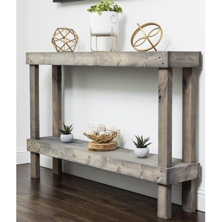 Rustic Luxe Large Wooden Sofa Table By Del Hutson Designs In 2020 Rustic Console Tables Sofa Table Decor Large Console Table