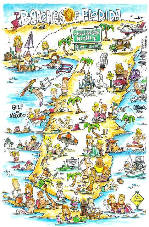 Pinterest Cartoon Map Of Florida on