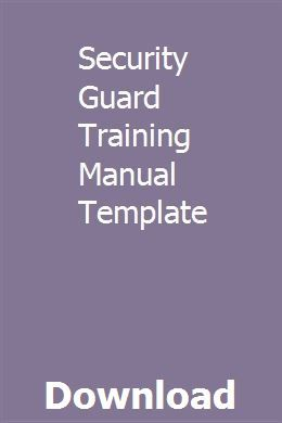 Safety Manual Templates 6 Free Printable Word Pdf With