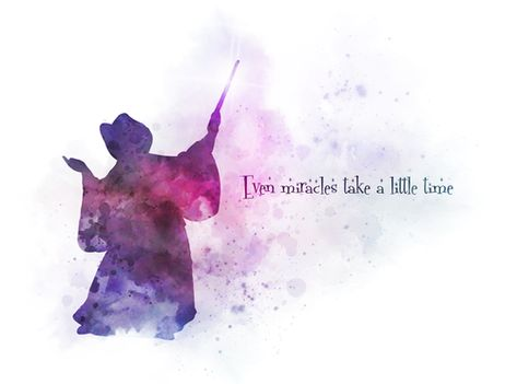 The Fairy Godmother Quote ART PRINT Cinderella, Nursery, Gift, Wall Art, Home Decor, Inspirational, Fairy Tale, Watercolour, Gift Ideas, Birthday, Christmas, Even miracles take a little time #FairyGodmother #Quote #ARTPRINT #Cinderella #Nursery #Gift #WallArt #HomeDecor #Inspirational #FairyTale #Watercolour #GiftIdeas #Birthday #Christmas