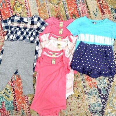 Ebay Sponsored Baby Girl Bundle Lot 3 6 Months Mixed Assorted Clothes Top Shirt Singlet Pink Top Outfits Baby Toddler Clothing Unisex Clothing