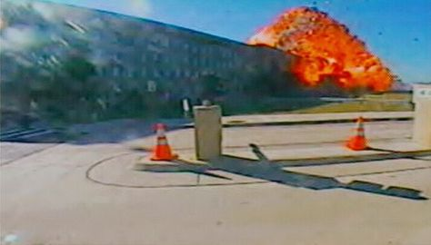 Attack on the Pentagon    Still from video by CNN via Getty Images    A video still shows American Airlines Flight 77 slamming into the western side of the Pentagon in Arlington, Virginia, at 9:37 a.m. ET on 9/11, claiming the lives of 59 persons on board.    In addition, 125 military and civilian employees at work inside the Pentagon were killed by the crash.