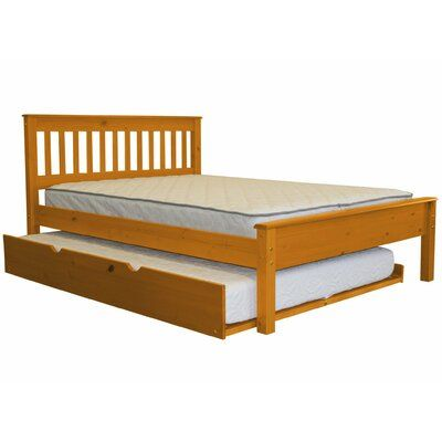 Harriet Bee Treva Full Slat Bed With Trundle Bed Frame Color
