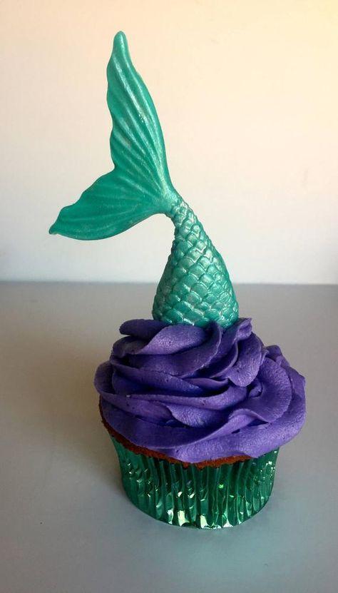 12 Mermaid Tail Cupcake Topper