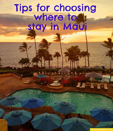 On Maui, the major beach resorts are on West and South Maui where you'll beautiful beaches almost anywhere you look. In those resort areas, you'll find a range of accommodations from budget hotels and condos to 5-star hotels. To get an idea of how the two major resort areas compare, use this...