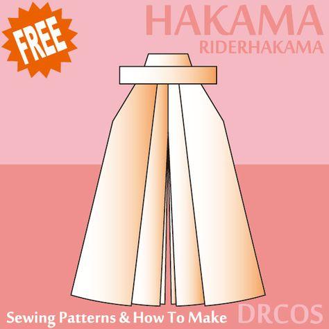hakama sewing patterns & how to make