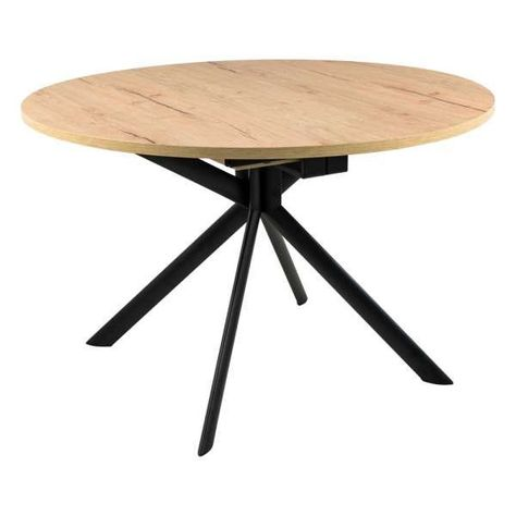 Table Ronde Avec Allonges En Melamine P49w Giove Connubia 6