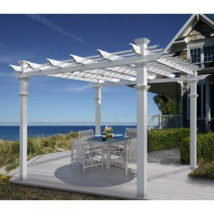 Paragon Outdoor Verona 11 Ft W X 16 Ft D Aluminum Pergola Wayfair Outdoor Pergola Vinyl Pergola Pergola Patio