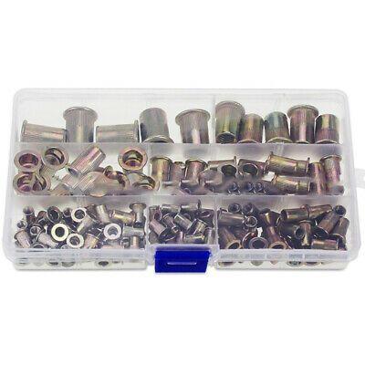 Sponsored Ebay Attachment Rivet Nuts Parts Flat Head Insert Nutsert M3 M4 M5 M6 M8 M10 Durable Zinc Plating Tool Steel Carbon Steel