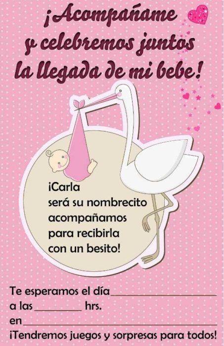 Invitaciones Con Frases Bonitas Para Baby Shower Baby