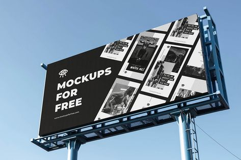 Big Billboard - Free Mockup - Dealjumbo.com — Discounted design bundles with extended license!