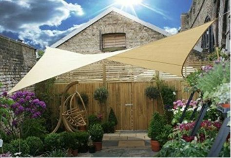 Rectangle Square Sun Shade Sail Deluxe Uv Top Canopy Shelter