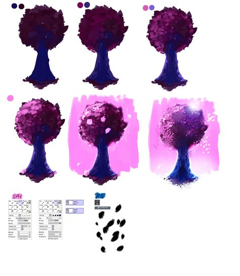 Easy tutorial - Pink Tree by ryky.deviantart.com on @DeviantArt