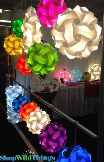 Jigsaw Light Kit Extra Extra Large 20 25 52cm Lavender Purple Puzzle Lights Origami Lights Beaded Curtains