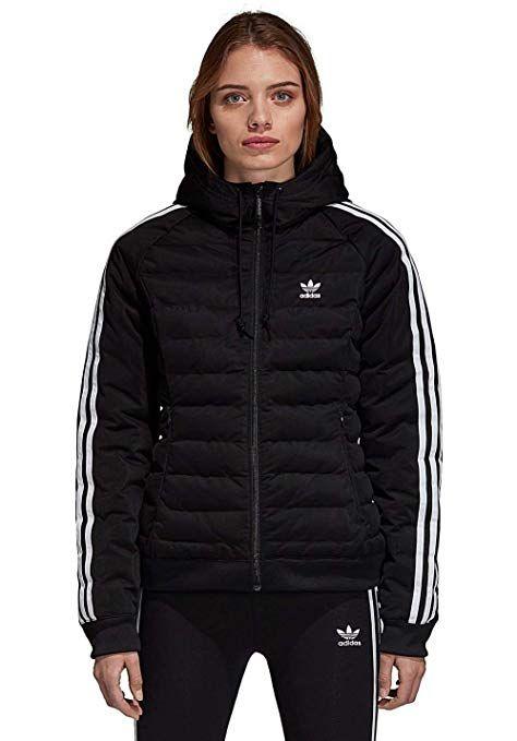 adidas Slim Jacket Jacke Damen Schwarz Winter Outfits