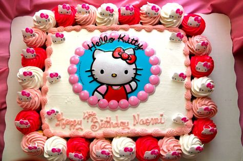 Pleasing Hello Kitty Cake 4 Charming Walmart Sheet Cakes Cake Funny Birthday Cards Online Alyptdamsfinfo