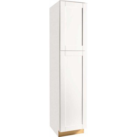 rsi home products andover shaker pantry white 84 in