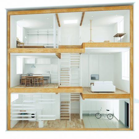 Vertical House Inside Small Muji Home Tiny House Cabin One Room Houses