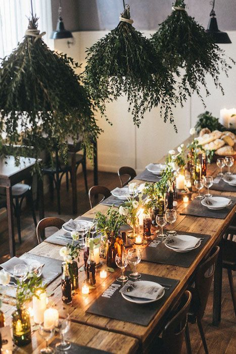 10 Ways To Use Greenery In Your Wedding Decor And Save Money With Images Christmas Table Decorations Christmas Table Settings Diy Christmas Table