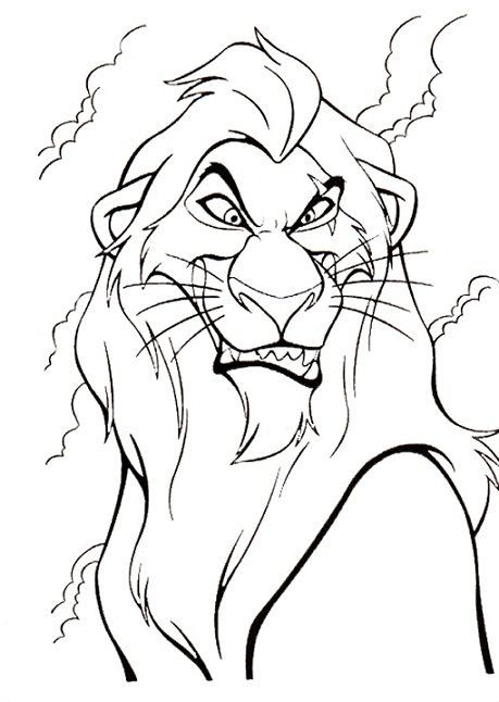 Disney Villain Coloring Pages Coloring Disney Page Villain Lion Coloring Pages Lion King Drawings Horse Coloring Pages