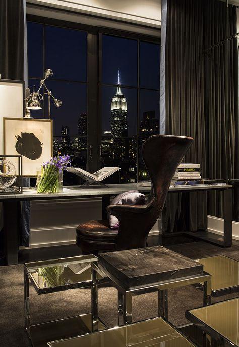 Chelsea NYC   Michael Dawkins Home Masculine den/office MKH