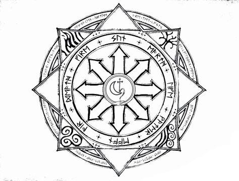 Chaos Symbol | Occult symbols, Warhammer art, Sleeve tattoos