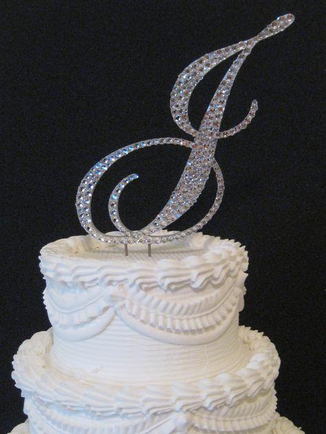 Easy Street Font Letter J Wedding Cake Toppers Cake Toppers Cake