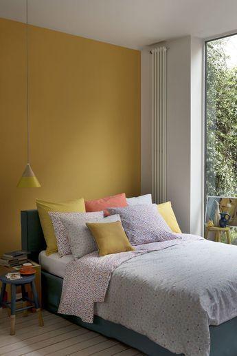 Chambre Jaune Moutarde Les Coloris A Associer Clemaroundthecorner Chambre Gris Et Jaune Chambre A Coucher Peinture Deco Chambre Grise