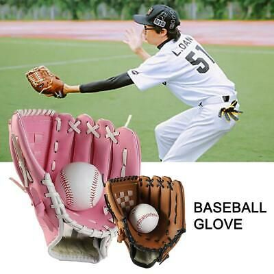 Baseball Glove Pitcher Left Hand Leather Outdoor Sports Training Practice Unisex