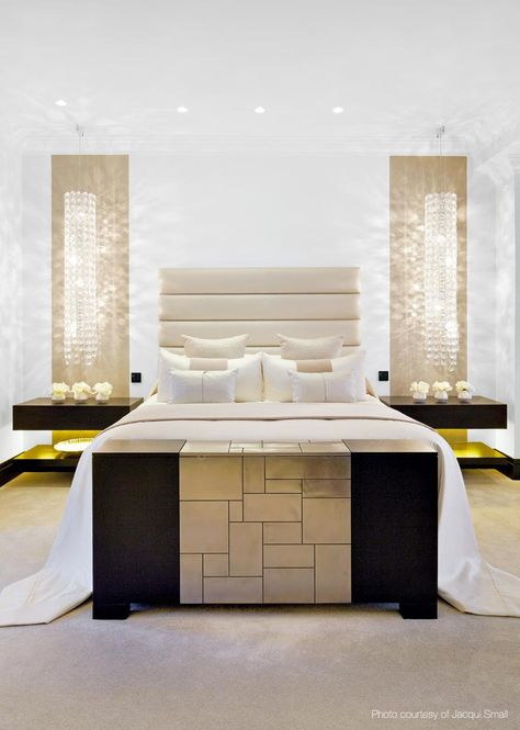 Master Bedroom by @kellyhoppen Kelly Hoppen Interiors in a Family Home in London. Master bedroom decoration, luxury furniture, exclusive design. For more design news: http://www.bocadolobo.com/en/news-and-events