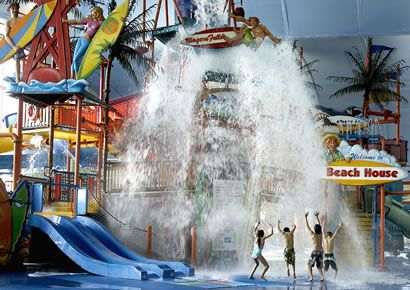 Spend the night in one of four quality Niagara Falls Hotels after a day of fun filled splashing at the Fallsview Indoor Waterpark