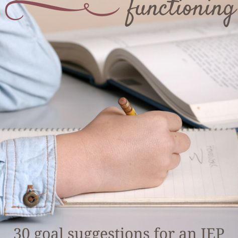 measurable IEP goals that address Executive Functioning deficits