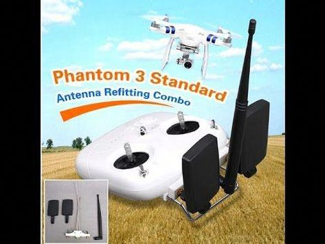 UPGRADE ANTENNA DJI PHANTOM #dronekits | Drone DIY in 2018